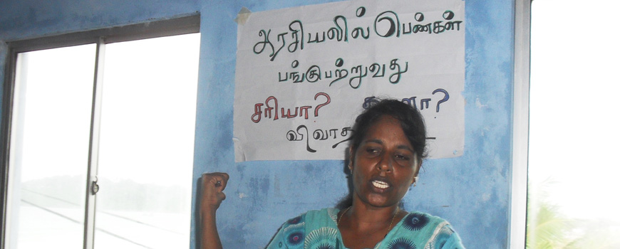 Supporting Women's Political Candidacy in Trincomalee District